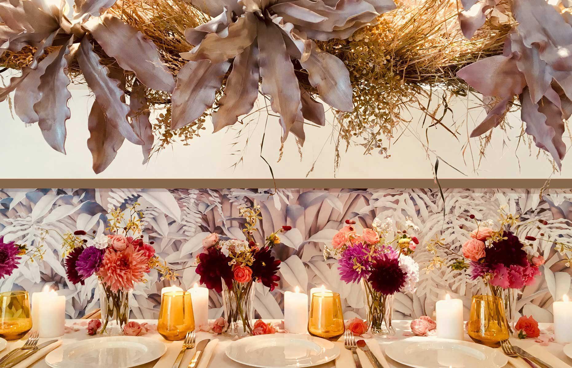 Tischdekoration Blumendekoration